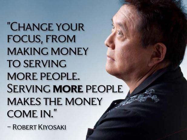 cita de roberto kiyosaki sobre hacer dinero