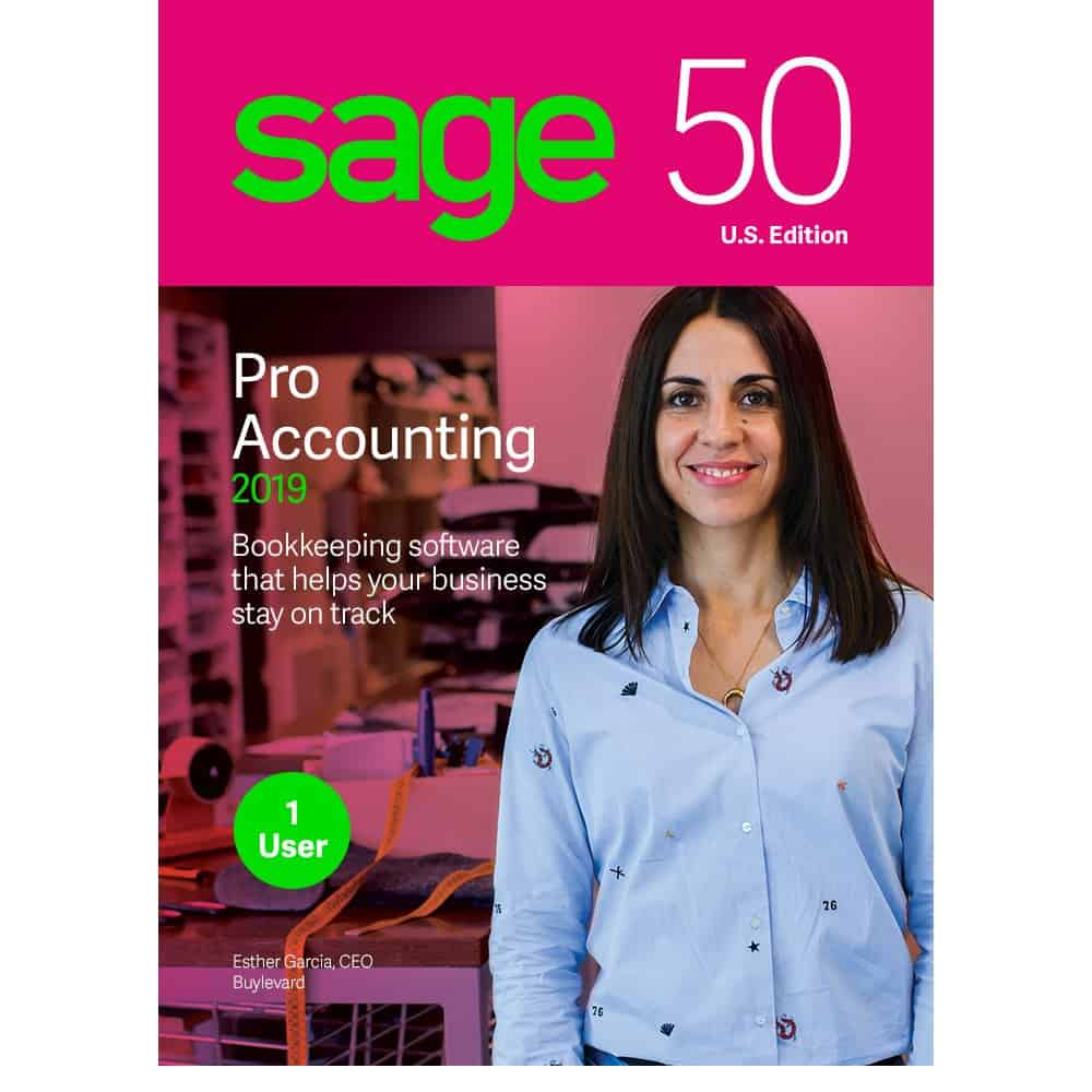 Sage 50 Pro Accounting 2019